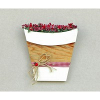 Luckywoodstore Duvar Dekoru -Kırmızı Çiçekli