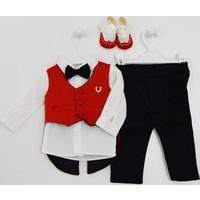 Pugi Baby 2034 Klasik Yaka Erkek Bebek Mevlüt Takımı