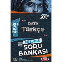 Data Yayınları Kpss 2017 Türkçe Çözümlü Soru Bankası