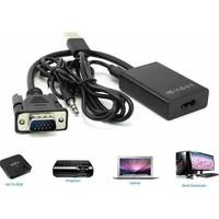 Microcase Vga Erkek To Hdmı Çıkış + Ses Tv Av Hdtv Video Dönüştürücü Adaptör Kablosu