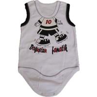 Shecco&Babba Doğuştan Fanatik Bebek Body Siyah Beyaz