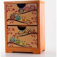 Baykuş Tasarımlı Mini Mini Şifonyer Çekmece