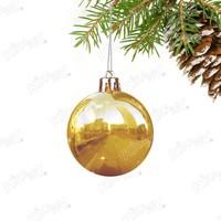 Kikajoy Altın Renk Cici Top Yılbaşı Ağaç Süsü 8 cm 6 adet