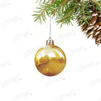 Kikajoy Altın Renk Cici Top Yılbaşı Ağaç Süsü 7cm - 6 adet