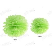 Kikajoy 30 cm İkili Ponpon Çiçek Dekor Süs Yeşil
