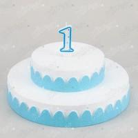Kikajoy 1 Yaş Rakamlı Doğum Günü Mumu Mavi