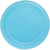 Kikajoy Roll Up Plastik Tabak Açık Mavi 22 cm