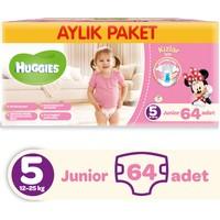 Huggies Kızım İçin Bebek Bezi Aylık Paket 5 Beden 64 Adet
