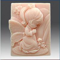 Pasta Mağaza Dua Eden Kız Bebek 1 Silikon,Mum,Kokulu Taş Kalıbı
