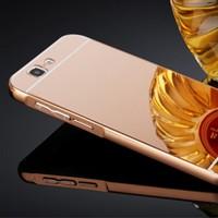 Gpack Huawei Ascend G7 Kılıf Aynalı Metal Bumper