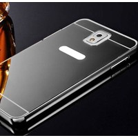 Gpack Samsung Galaxy Note 3 Kılıf Aynalı Metal Bumper + Cam
