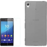 Gpack Sony Xperia X Kılıf 02Mm İnce Silikon + Cam