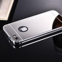 Gpack Apple iPhone 6,6S Kılıf Aynalı Metal Bumper