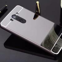 Gpack Lg G3 Kılıf Aynalı Metal Bumper