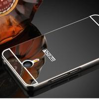 Gpack Meizu M3 Note Kılıf Aynalı Metal Bumper + Kırılmaz Cam