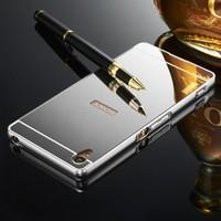 Gpack Sony Xperia Xa Ultra Kılıf Aynalı Metal Bumper