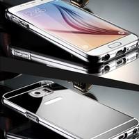 Gpack Samsung Galaxy Note 5 Kılıf Aynalı Metal Bumper