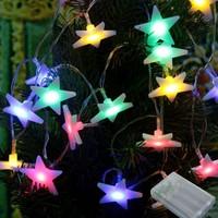 Pandoli Karışık Renkli 28 Ampullü Yıldız Figürlü Pilli Led Işık