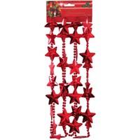 Pandoli Yılbaşı Yıldız Gardand Zincir 270 Cm Kırmızı