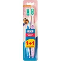 Oral-B Diş Fırçası 3 Etki Hassas Beyazlık 40 Orta İkili Paket