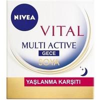 Nivea Vital Soya Yaşlanma Karşıtı & Leke Giderici Gece Bakım Kremi 50Ml