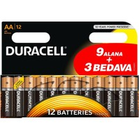 Duracell Alkalin AAA İnce Kalem Pil 12'li Paket