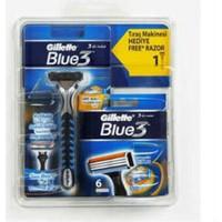 Gillette Blue3 Tıraş Makinesi + Yedek Tıraş Bıçağı 6'lı