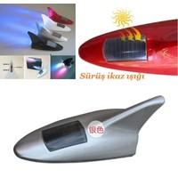 Tvet Anten Süs Balık Silver 8 Led İkaz Işıklı Güneş Enerjili