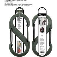 Nite-İze S-Biner Plastik Size 10 Fo! Grn/Blk Gate