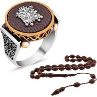 MeryemZeynep Gümüş Kuka Ağacı Osmanlı Arması Yüzük Kombini