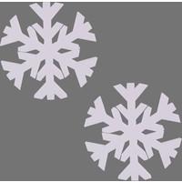 Euro Flora Dekor Kar Tanesi 25 Cm 2'li Paket (Beyaz)