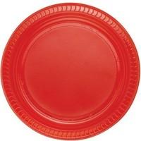 Kikajoy Plastik Tabak Kırmızı - 25 adet