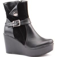 Siber 7157 Günlük Dolgu Topuk Termo Taban 9 cm Bayan Bot Ayakkabı