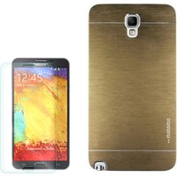 Gpack Samsung Galaxy Note 3 Neo Kılıf Sert Arka Kapak Motomo + Kırılmaz Cam