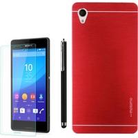 Gpack Sony Xperia Z1 Kılıf Sert Arka Kapak Motomo +Kalem + Cam