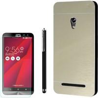 Gpack Asus Zenfone 5 Kılıf Sert Arka Kapak Motomo +Kalem + Kırılmaz Cam