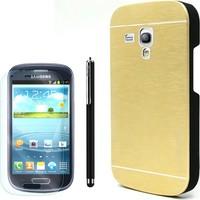 Gpack Samsung Galaxy S3 Mini Kılıf Sert Arka Kapak Motomo + Kalem+ Cam