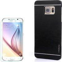 Gpack Samsung Galaxy S6 Kılıf Sert Arka Kapak Motomo + Cam