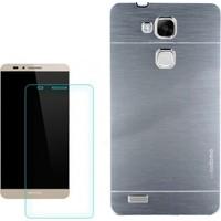 Gpack Huawei Gr5 Kılıf Sert Arka Kapak Motomo + Kırılmaz Cam