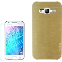 Gpack Samsung Galaxy A8 Kılıf Sert Arka Kapak Motomo + Cam