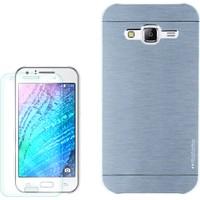 Gpack Samsung Galaxy Core Prime Kılıf Sert Arka Kapak Motomo + Kırılmaz Cam