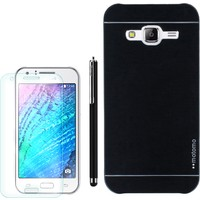 Gpack Samsung Galaxy J2 Kılıf Sert Arka Kapak Motomo +Kalem+Kırılmaz Cam