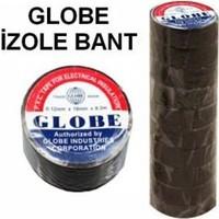 Globe Plastik İzole Elektrik Bandı - Siyah (10' lu Paket)