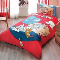 Taç Lisanslı Tek Kişilik Nevresim Takımı Tom & Jerry Good Nıght