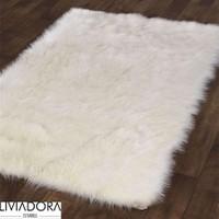 Beyaz Post Halı -100x150 cm