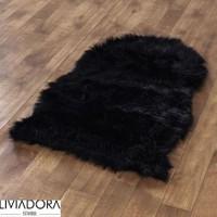 Siyah Post Halı -70x100 cm