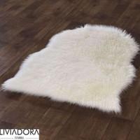 Beyaz Post Halı -70x100 cm