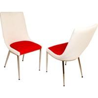Dockers Sanpa Sandalye-Lara Kırmızı Beyaz Duz