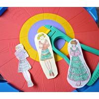 Bundera Kız Çocuklarınız İçin Eğitici Elbise Tasarım Seti Fashion Wheel