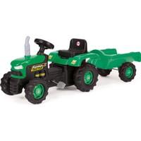 Dolu Römorklu Traktör (Pedallı) Yeşil